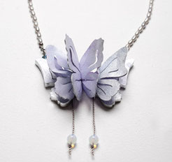 butterfly; grey pearl acrylate opalquarts