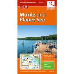Rad- und Wanderkarte Müritz und Plauer See: Beispiel für eine große Karte