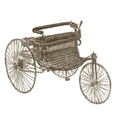 Illustration Benz Motorwagen 1886