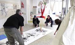 Weltnummer4 - künstler im prozess - märz 2013, atelier schaufenster - herten-westerholt in westfalen