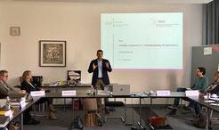 Impulse und Diskussion zum Freiwilligenmanagement - unterstützt durch Prof. Dr. M. Vilain (IZGS), C. Pälmke (LaS NRW), M. Kreimann (FreiwilligenAgentur Münster), S. Krause (lagfa NRW) und T. Damm (DCV  Münster) | Foto: Referat Weiterbildung FH Münster