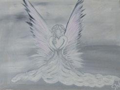 Engel Engelbild selbstgemalt Stefanie Will Künstlerin Kunst Ammersee Acrylengelbild Stefanies Wandmagie
