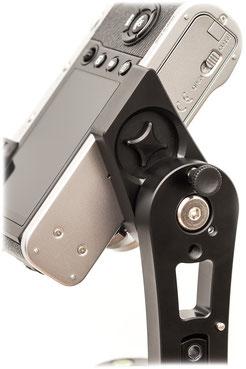 pocketPANO Nodalpunktadapter / Panoramakopf für die Fujifilm X100F