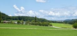 Blick Schützenhaus Ziefen zum Hof Erli