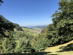 Blick von oberhalb Ramstein Richtung Nunningen