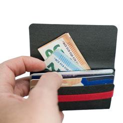 Kartenetui mit 2 Fächern Brieftasche ohne Münzfach für Karten für Männer Frauen