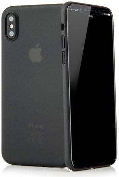 Tenuis iPhone XS Max Hülle Ultra dünn in Schwarz