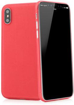 Tenuis iPhone X/XS Hülle Ultra dünn in Rot