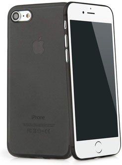 Tenuis iPhone 7/8/SE Hülle Ultra dünn in Schwarz