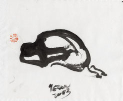 人.1 MAN 1  32X38CM 纸本水墨  INK ON PAPER 2003
