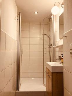 Unser kleineres Duschbad im 1. OG