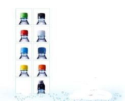 lieferbare Farben der Drehverschlüsse und Sportcap