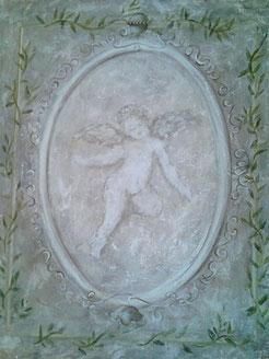 peinture d'ange sur toile