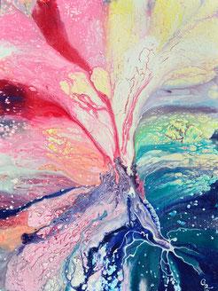 Galamos Rita between sky and earth (60cmx80cm) 2017. Dekorativmalerei Feldkirch  Malerin Vorarlberg Ungarische Designerin  Hungarian Painting