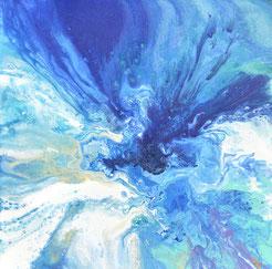 Galamos Rita between sky and earth (60cmx60cm) 2017. Dekorativmalerei Feldkirch  Malerin Vorarlberg Ungarische Designerin  Hungarian Painting