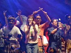 Members in the Grand Finale of the Rainforest World Music Festival, Kuching