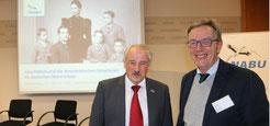 NABU-Präsident Olaf Tschimpke und Rolf Brandt vom NABU Grefrath (v.l.)