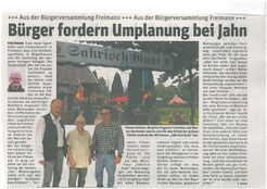 Bürger fordern Umplanung (Sakrisch Guat) - Juni 2018
