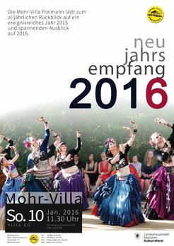 Mohr-Villa Neujahrsempfang 13.1.2013 mit RISCANT dem Liederensemble des Münchner Sommertheaters