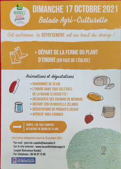 Randonnee bienvenue a la ferme produits locaux marche agriculturelle SOMME flers PERONNE ALBERT CAPPY CORBIE