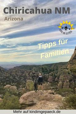 Lustige Felsformationen im Chiricahua National Monument in Arizona.