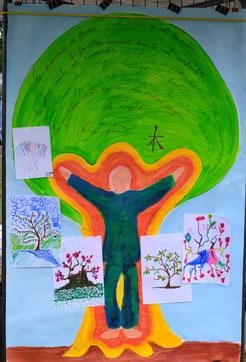 Oeuvre réalisée pour la Fête de la Vie Associative le 01/07/2017 - Collaboration avec les associations Nuances et la Cave Littéraire