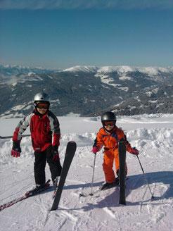 Skifahren, gute Schneelage, Skiurlaub,