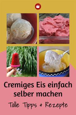 Cremiges Eis selber machen Tipps und Rezepte #eis #eiscreme #ohneeismaschine #thermomixrezept