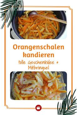 Orangenschalen kandieren - Mitbringsel #orangenschalen #geschenke #resteverwertung