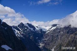 Neuseeland - Motorrad - Reise - Milford Sound - Vogelperspektive - Hubschrauberflug - Gletscher