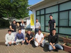 平成27年 宮山ふるさとふれあい公園 緑のカーテンの設置(筑西市商工会エコの木プロジェクト部会)