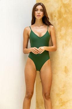 Sustainable swimsuit - green