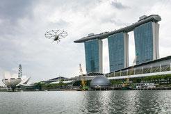 MAG Lifestyle Magazin Volocopter Flugtaxi fliegt über Singapur Volocopter, der Pionier für Urban Air Mobility