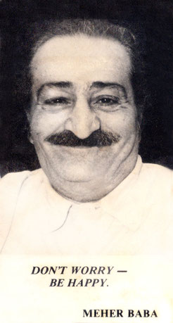 Meher Baba in Poona May 1957 ; Photo taken by Bhikubhai, Meelan Studio, Poona.