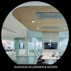 Almwiese aus Tirol - beruhigender Duft an Wand und Decke