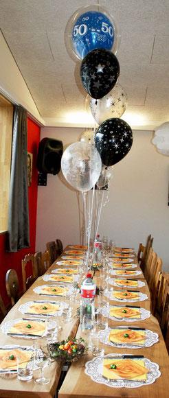 Mr.Balloni.ch,Deko, Raumdeko, Geburtstag, Überraschung, Tischdekoration,Firma, Betrieb, Feier, Jubiläum, Helium, Heliumballon