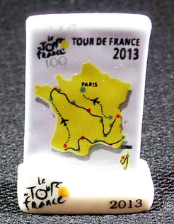 Fève Tour de France  Série 2014   Carte du Tour 2013
