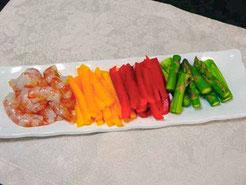 えび野菜材料