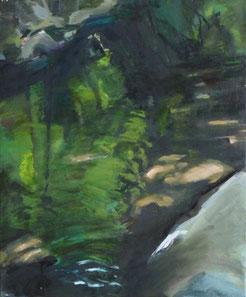 16.9.12 fluss/it 2012 60 x 50 cm Öl / Leinwand