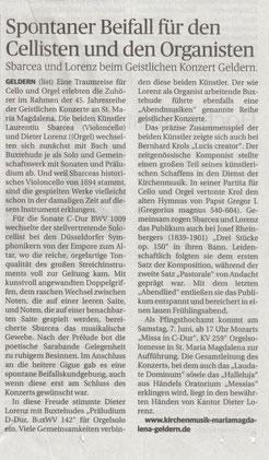 Bericht aus der Rheinsichen Post vom 1. April 2014