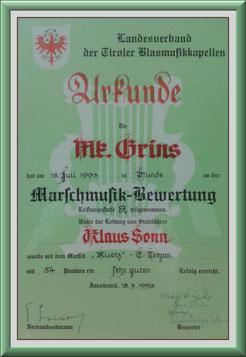 MK-Grins, Marschmusik-Bewertung 1993