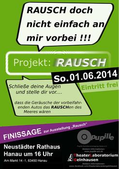 """Flyer """"Projekt: Rausch"""" Vorderseite"""
