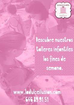 Taller de repostería creativa en Cartagena, Murcia. Taller infantil de galletas. Cumpleaños. Cupcakes, cookies, tartas.