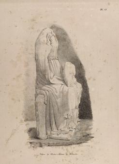 Dessin de Hazé (1840) avant restauration