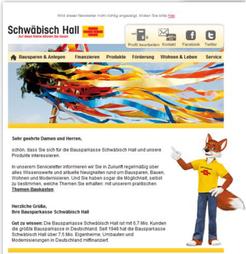 Servicemailing für Schwäbisch Hall