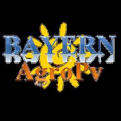 Sonne mit Schrift Bayern AgroPV