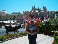 Vor dem Casino von Monaco