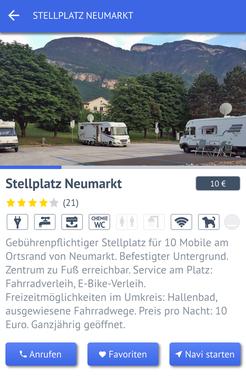 """Der Stellplatz im """"Stellplatz-Radar"""""""
