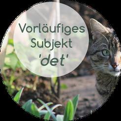 vorläufiges Subjekt im Norwegischen