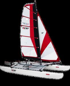 XCAT Multi-Sport-Katamaran / Multiboot Sail aufgebaut